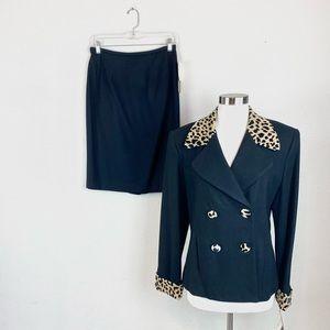 Lauren Meren   Animal Print Skirt Suit